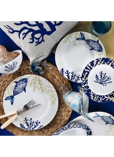 Kütahya Porselen Kütahya Porselen Marine Serisi 9347 Desen 24 Parça Yemek Takımı Renkli